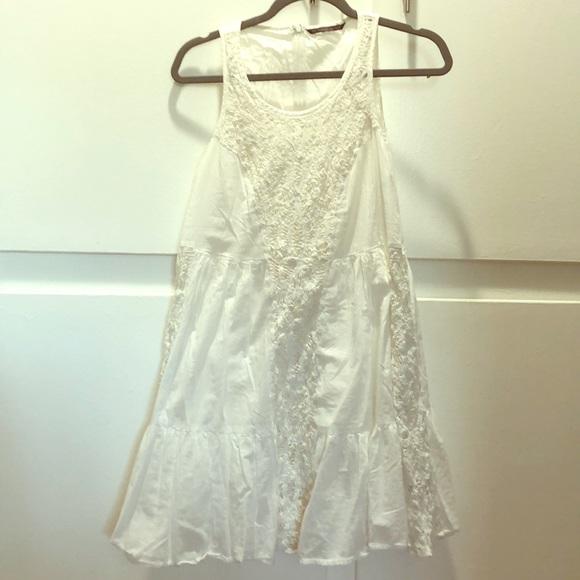 flowy white summer beach dress